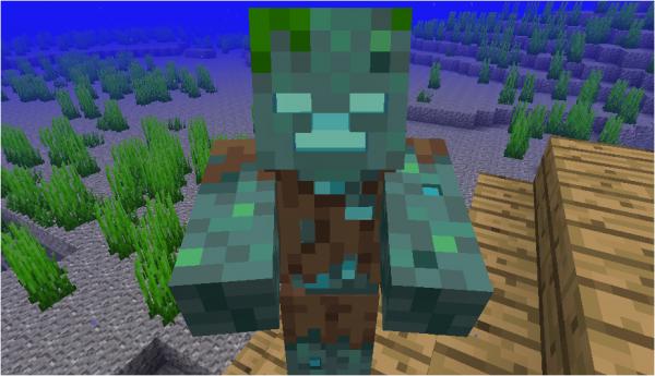 Моб - утопленник, Minecraft 1.13