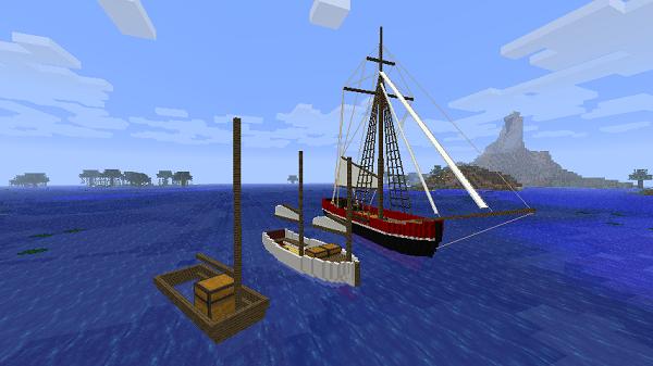 Мод Small Boats для Minecraft - Новые лодки